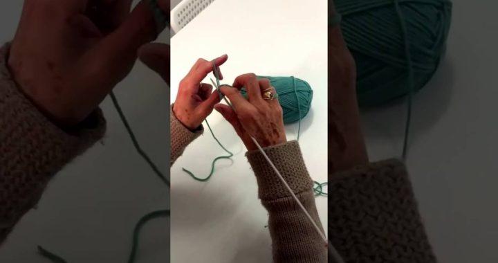 1.Montar puntos _ tejer con dos agujas