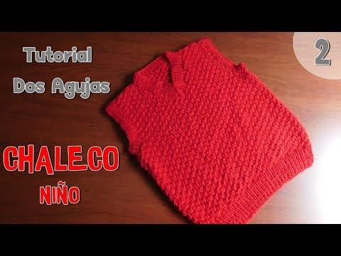Como tejer un chaleco para niño en dos agujas o palitos (2/2)