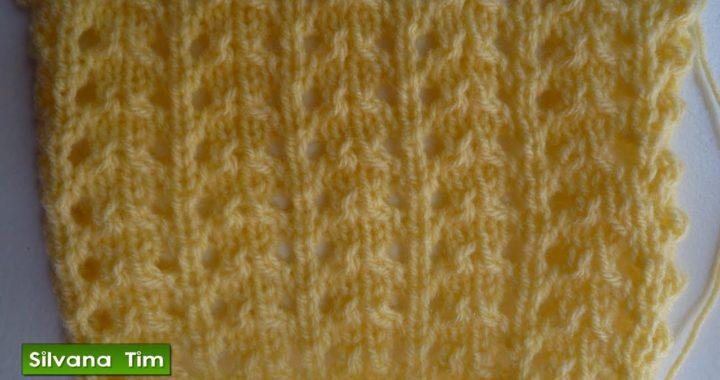 Aprendé a tejer Punto CALADO MUY FÁCIL Tejido con dos agujas ✅ Silvana Tim # 319