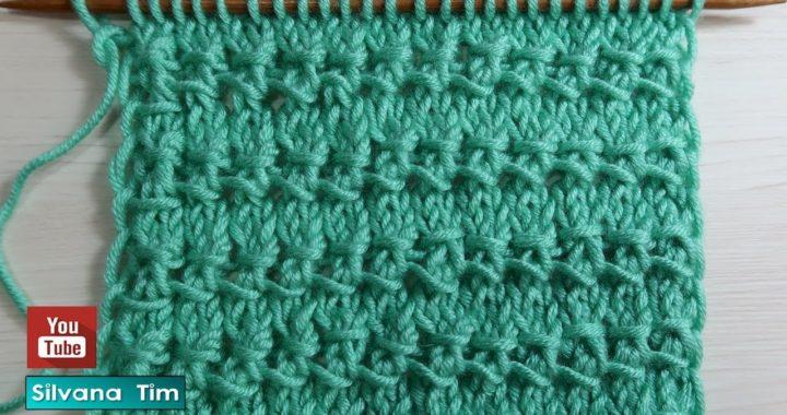 Aprendé a tejer Punto Fácil y Rápido en Relieve. Tejido con dos agujas # 858