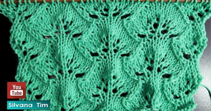 Aprendé a tejer Punto Floral Calado tejido con dos agujas con patrón # 819
