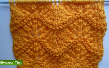Aprendé a tejer Punto PAVO REAL Tejido con dos Agujas / silvana tim # 271