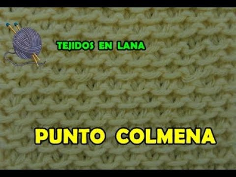 Aprende A Tejer Punto Colmena A Dos Agujas (PASO A PASO) - Tejidos En Lana