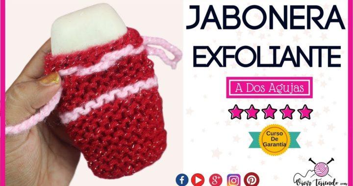 Aprende a tejer Jabonera Exfoliante a Dos Agujas | Curso de tejidos | vivirtejiendo