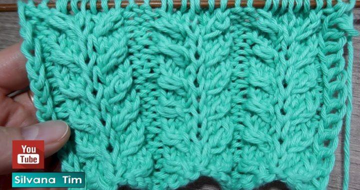 Aprende a tejer PUNTO ESPIGA Tejido con dos agujas # 829