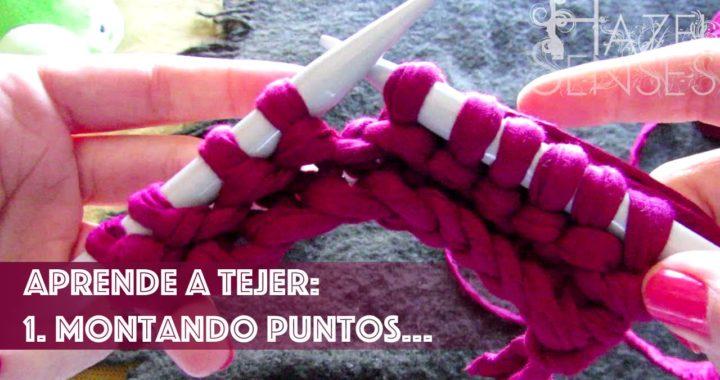 Aprende a tejer; dos agujas. Parte 1 - Montando puntos.