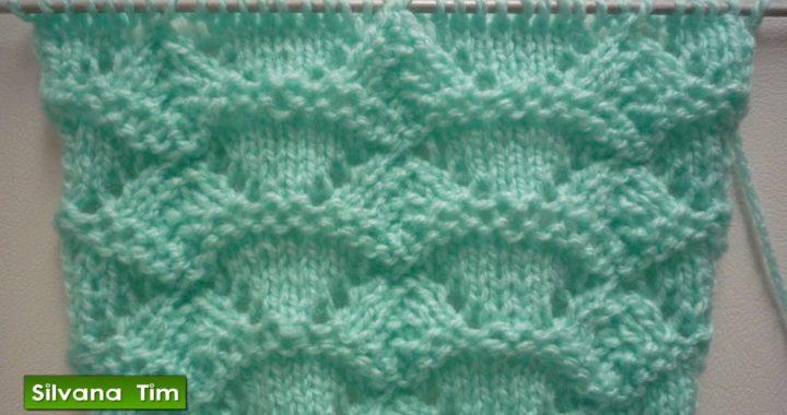 Aprende a tejer este Precioso Punto TRIANGULOS CALADOS con dos agujas. Tutorial paso a paso # 417