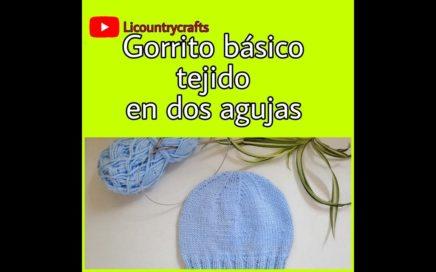 Aprende a #tejer gorrito en dos agujas muy facil!!