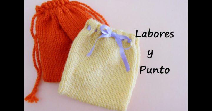 Aprende a tejer una bolsa o saquito multiusos en dos agujas- 2ª parte de 2