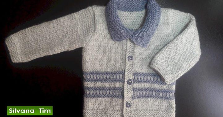 Aprender Como tejer CHAQUETA PARA BEBE / CHAMBRITA de Bebes TEJIDA en DOS AGUJAS / silvana tim # 471