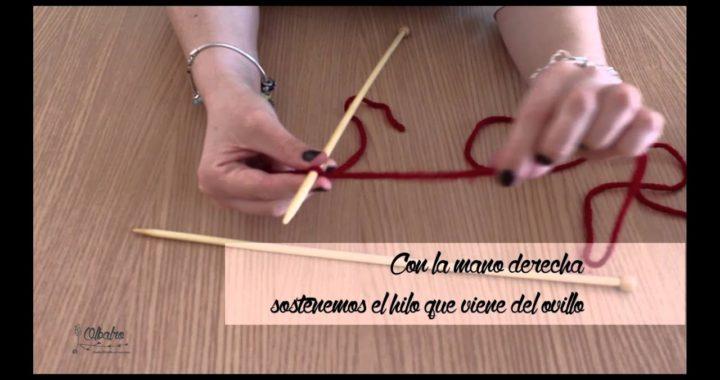 Aprender a tejer: Cómo montar puntos con dos agujas.