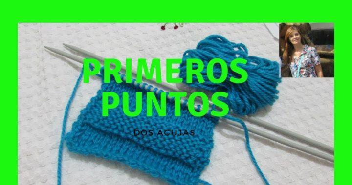 Aprender a tejer, con dos agujas, jersey.Para principiantes.