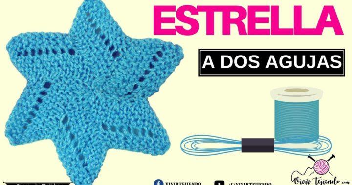 Aprendiendo a tejer estrella a dos agujas | Curso online de Tejidos