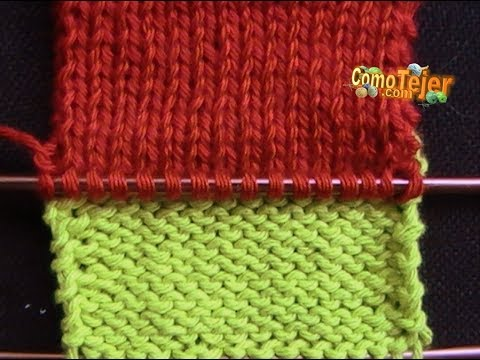 CÓMO APRENDER A TEJER- How to Knit Step-by-Step - 2 Agujas (330)