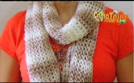 Cómo Tejer BUFANDA DE FIESTA-How to Knit a Scarf - 2 Agujas (287)