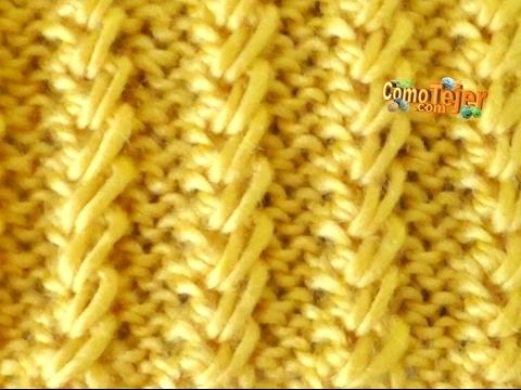Cómo Tejer Columnas Bordadas - 2 agujas o palitos (408)