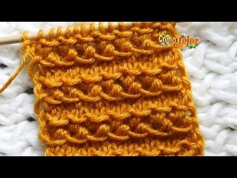 Cómo Tejer Diseño Bordado para Suéter y Gorro. Embroidered Sweater Design. 2 agujas(709)