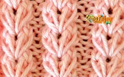 Cómo Tejer Flores en Realce - Knit Flower Patterns - 2 agujas o palitos (396)
