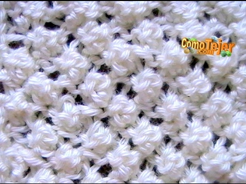 Cómo Tejer PUNTO GARBANZO - Popcorn Stitch - 2 Agujas (12)