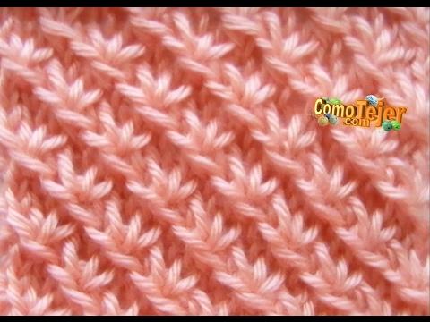 Cómo Tejer Punto Fantasía de Estrellas -Star Stitch - 2 agujas o palitos(3)