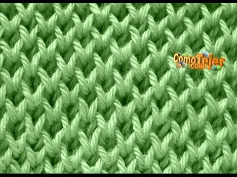 Cómo Tejer Punto Panal Clásico en 2 agujas o palitos - Honeycomb Stitch (398)