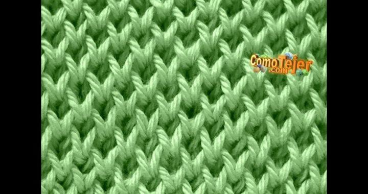 Cómo Tejer Punto Panal Clásico. Honeycomb stitch en 2 agujas o palitos (502)