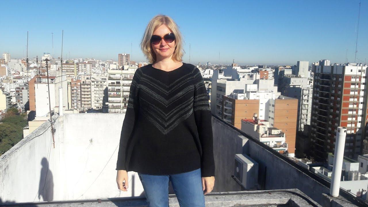 Cómo Tejer SUÉTER o JERSEY de mujer Tejido a dos Agujas / Silvana Tim  # 718