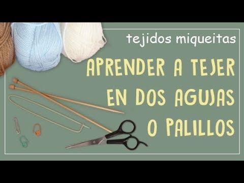 Cómo aprendo a tejer en dos agujas? (subtitles available)