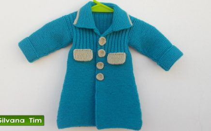 Cómo tejer ABRIGO para Bebe con Dos Agujas / ROPA PARA BEBES. Silvana Tim tejido a dos agujas # 445
