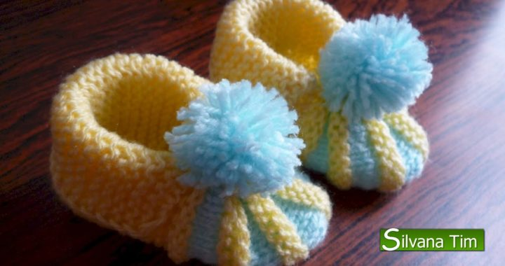Cómo Tejer Escarpines De Bebe Patucos Zapatitos Para Bebe Tejido Con Dos Agujas 123 Tejedoras Es