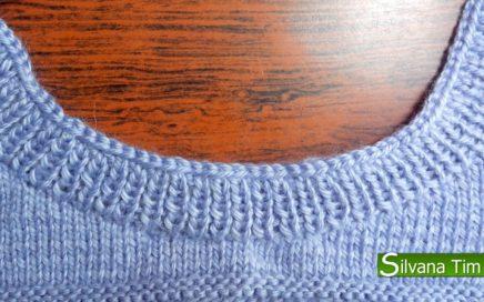 Cómo tejer ESCOTE o CUELLO REDONDO para Jersey 🧶 parte 3. Tejido con dos agujas # 76