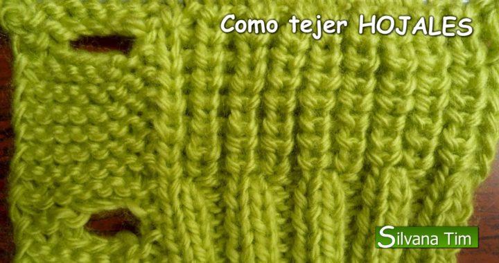 Cómo tejer OJALES. Ojal TEJIDO en DOS AGUJAS / Silvana Tim knitting # 31