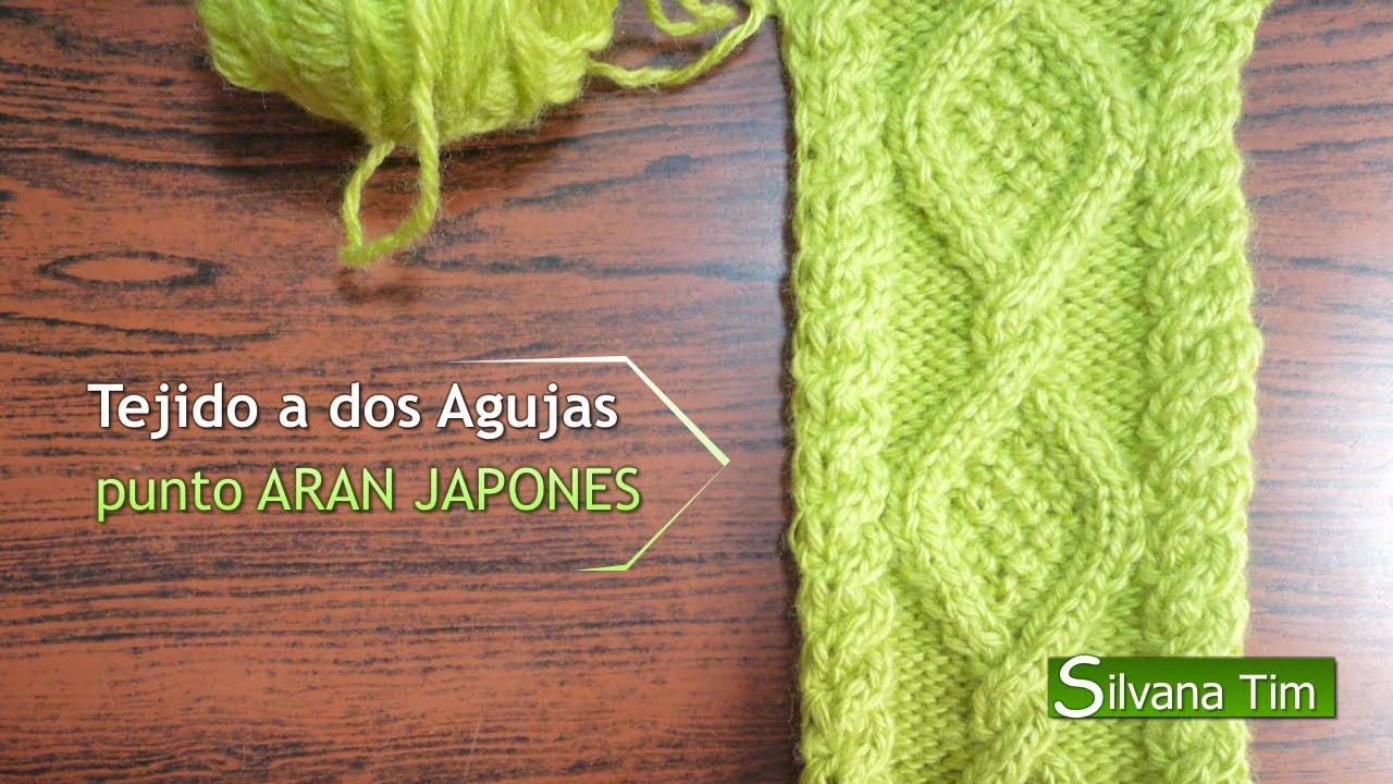 Cómo tejer PUNTO ARAN ROMBOS Y TRENZAS / TRENZA 🧶 Tejido en dos agujas # 39