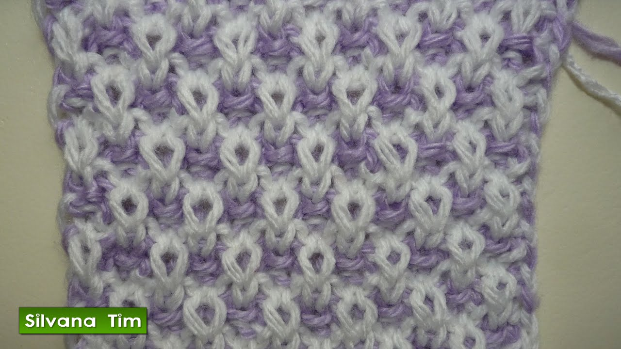 Cómo tejer PUNTO ARROZ de Dos Colores Tejido Con Dos Agujas # 294