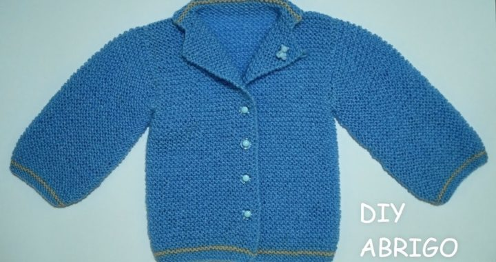Cómo tejer abrigo de bebé a dos agujas paso a paso