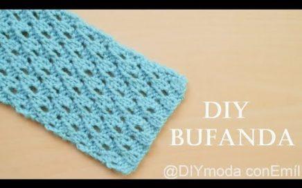 Cómo tejer bufanda calada a dos agujas paso a paso