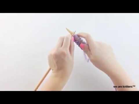 Cómo tejer calados con dos agujas diferentes  - Aprender a tejer