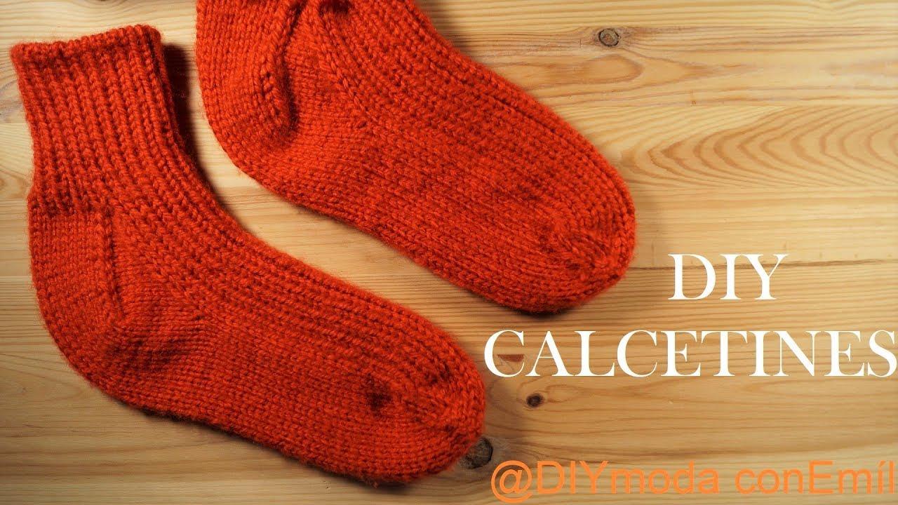 Cómo tejer calcetines a dos agujas paso a paso