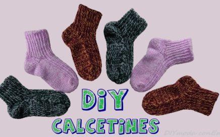 Cómo tejer calcetines de lana en dos agujas.