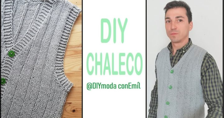 Cómo tejer chaleco de hombre a dos agujas paso a paso / DIY moda con Emíl