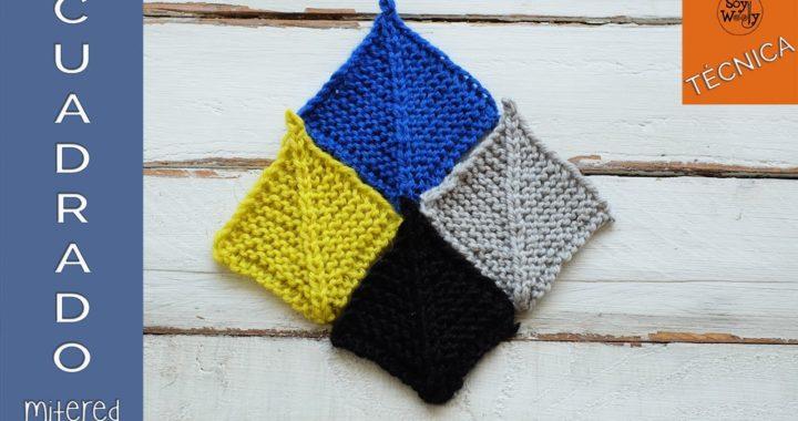 Cómo tejer cuadrados en dos agujas (mitered squares)-Soy Woolly
