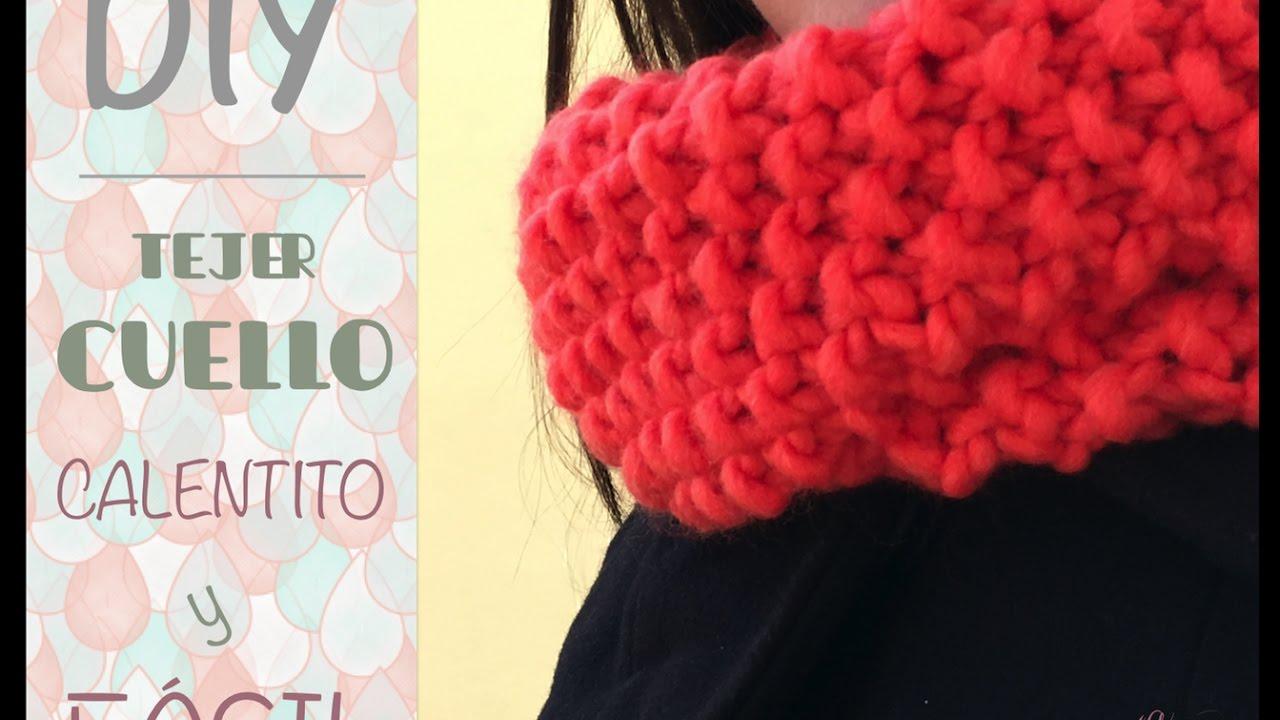 Cómo tejer cuello de lana redondo con dos agujas ♥  Laura DIY