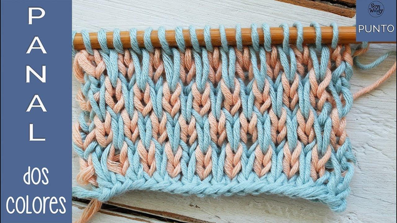 Cómo tejer el Punto Panal en dos colores (dos agujas)- Soy Woolly
