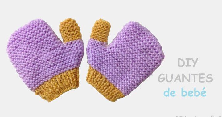 Cómo tejer guantes de bebé en dos agujas paso a paso