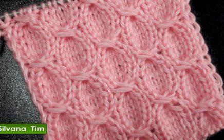 Cómo tejer hermoso punto TRENZA. TEJIDO CON DOS AGUJAS  punto Manta para bebé / Silvana Tim # 526