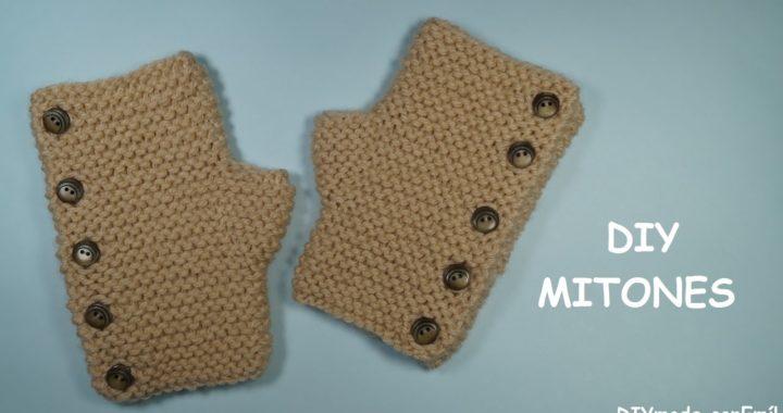 Cómo tejer mitones o guantes sin dedos a dos agujas