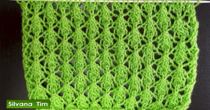 Cómo tejer punto Calado Fino. Tejido con dos agujas / silvana tim knitting patterns # 534