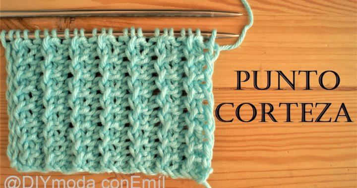 Cómo tejer punto Corteza a dos agujas paso a paso / DIY moda con Emíl