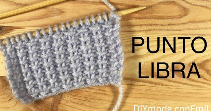 Cómo tejer punto Libra a dos agujas paso a paso
