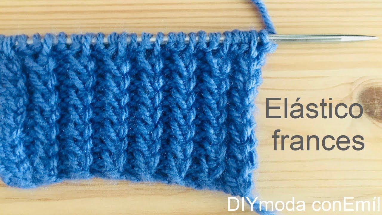 Cómo tejer punto elástico francés a dos agujas.